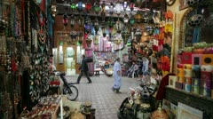 In the Souk, Marrakech, Morocco, North Africa - stock footage