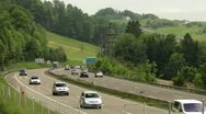 Swiss street traffic timelapse Stock Footage