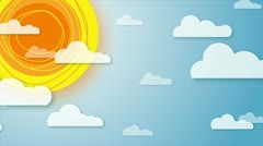 Animated Sun and Sky Stock Footage