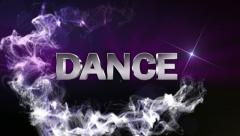 DANCE Text in Particle (Double Version) Blue - HD1080 Stock Footage