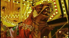 Carousel Ride Stock Footage