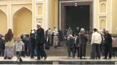 Id Kah mosque in Kashgar, China Stock Footage