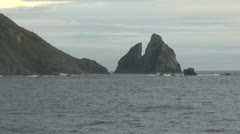 Chile Cape Horn notch in Cathedral Rocks 2 Stock Footage