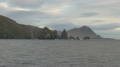 Chile Cape Horn Island Cathedral Rocks 5 Stock Footage