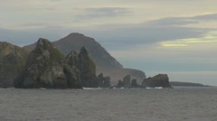 Chile Cape Horn Island Cathedral Rocks s4 Stock Footage