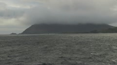 Chile Cape Horn Island cloud settles 4a Stock Footage