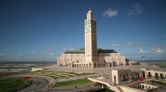 Hassan II Mosque, Casablanca, Morocco Stock Footage