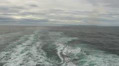 Tierra del Fuego wake Stock Footage