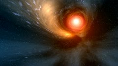 White hole - stock footage