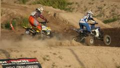 Motocross Extreme Sports Racing Dirt Bikes on the Track 12 - stock footage