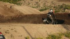 Motocross Extreme Sports Racing Dirt Bikes on the Track 16 Stock Footage