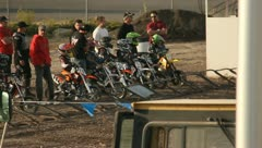 Motocross Extreme Sports Racing Dirt Bikes on the Track 17 Stock Footage