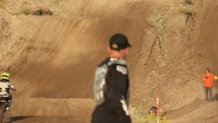 Motocross Extreme Sports Racing Dirt Bikes on the Track 21 - stock footage