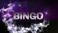 BINGO Text in Particle (Double Version) Blue - HD1080 Stock Footage