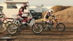 Motocross Extreme Sports Racing Dirt Bikes on the Track 30 - stock footage