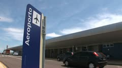 Brazilian Airport. Sign. Small aiport.  Stock Footage