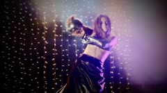 Beautiful club dancer-Crazy lighting Stock Footage