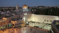 Dome of the Rock, Jerusalem, Israel Stock Footage