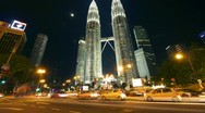 Stock Video Footage of Petronas towers. Timelapse in motion