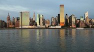 Stock Video Footage of Manhattan From the East River, New York