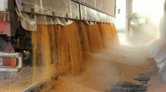 Loading Corn into the Silo - stock footage