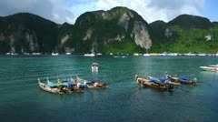 PhiPhi Boat 006 - stock footage