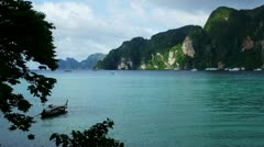 PhiPhi boat 005 Stock Footage