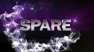 SPARE Text in Particle (Double Version) Blue - HD1080 Stock Footage
