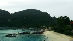 PhiPhi boat 011 - stock footage