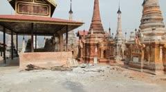 Takhaung Mwetaw Paya pagoda, Inle lake Stock Footage