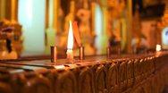 Candles in Shwedagon Pagoda Stock Footage