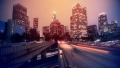 Night Los Angeles - stock footage