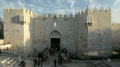 The Old City, Damascus Gate,  Israel, Middle East, Stock Footage