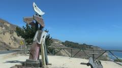 Chile coast stone sculpture Stock Footage