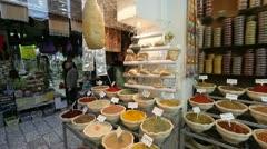 David Street Covered Market, Israel,  Stock Footage