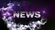 NEWS Text in Particle (Double Version) Blue - HD1080 Stock Footage