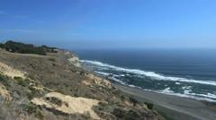 Chilean coast near Matanzas Stock Footage