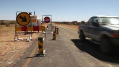 Stop/Go Roadworks in the Northern Cape, South Africa GFHD Stock Footage