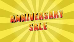 Anniversary Sale Retro Yellow Starburst Stock Footage
