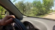 Stock Video Footage of Driving inside a car in a country road