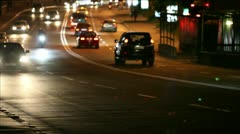 Night traffic in the city, shallow depth of field - stock footage