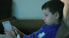 Stock Video Footage of Boy using tablet 2