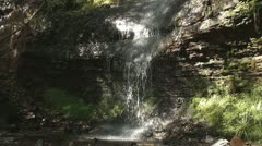 Clydach Waterfall 2 Stock Footage