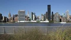 Chrysler Building ja Yhdistyneiden kansakuntien rakennus, New York Arkistovideo
