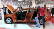 Stock Video Footage of Automotive show SIA 2012 in Kiev, Ukraine