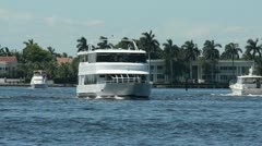Yacht on the Florida waterways Stock Footage
