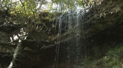 Clydach Waterfall 3 Waterfall pan Stock Footage