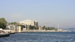 Dolmabahce Palace Stock Footage