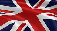 5k High Resolution UK Flag Stock Footage