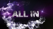 ALL IN Text in Particle (Double Version) Blue - HD1080 Stock Footage